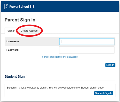 Parent Sign In Page