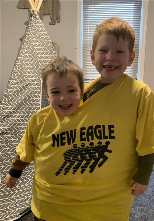 The Lyford boys are showing their New Eagle Spirit!